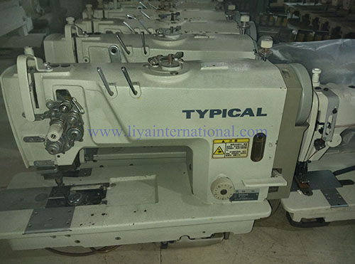 Used Second Hand Typical GC40 High Speed Double Needles Lockstitch Mesmerizing Second Sewing Machine